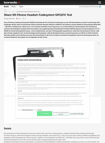 Bonedo.de Shure SM Fitness Headset-Funksystem