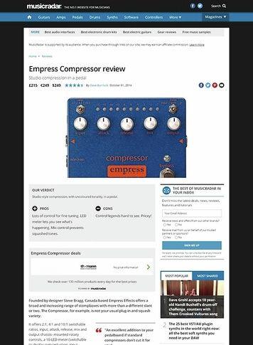 MusicRadar.com Empress Compressor