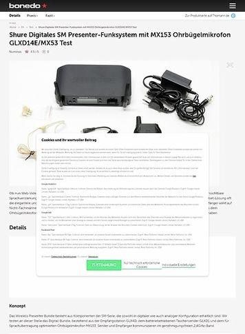Bonedo.de Shure Presenter-Funksystem GLXD14E/MX53