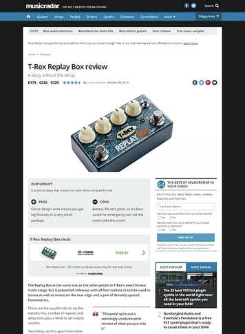 MusicRadar.com T-Rex Replay Box