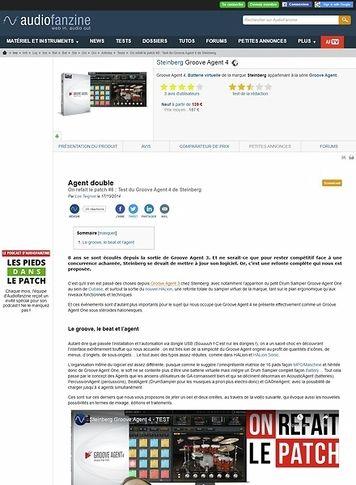 Audiofanzine.com Steinberg Groove Agent 4