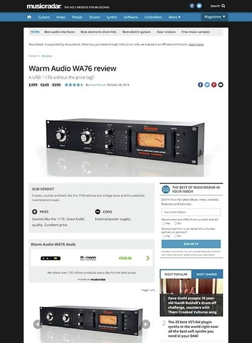 MusicRadar.com Warm Audio WA76