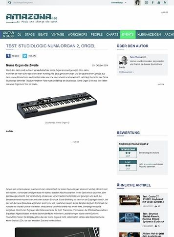 Amazona.de Test: Studiologic Numa Organ 2, Orgel