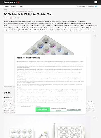 Bonedo.de DJ Techtools MIDI Fighter Twister