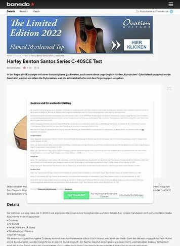 Bonedo.de Harley Benton Santos Series C-40SCE Test