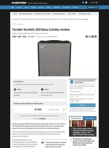 MusicRadar.com Fender Rumble 200