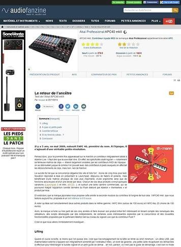 Audiofanzine.com Akai APC40 mkII