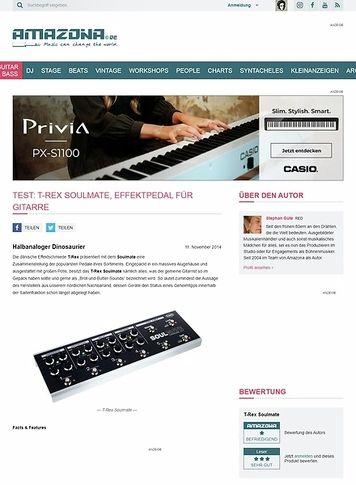 Amazona.de Test: T-Rex Soulmate, Effektpedal für Gitarre