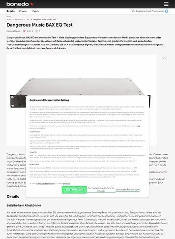 Bonedo.de Dangerous Music BAX EQ