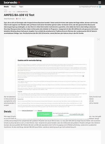 Bonedo.de Ampeg BA-108 V2