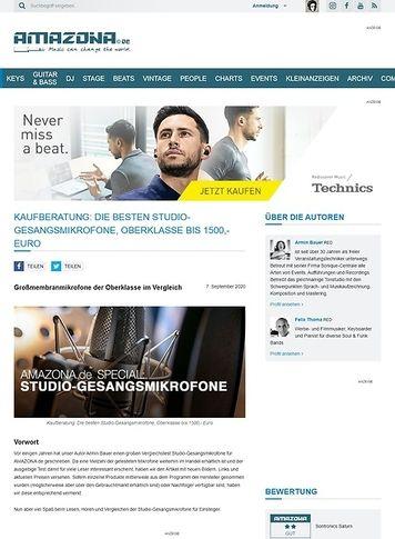 Amazona.de Special: Studio-Gesangsmikrofone Teil 3, Oberklasse bis 1500,- Euro
