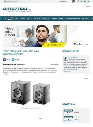 Amazona.de Test: Focal Alpha 65, Alpha 80, Studiomonitore