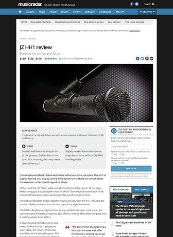 MusicRadar.com JZ HH1