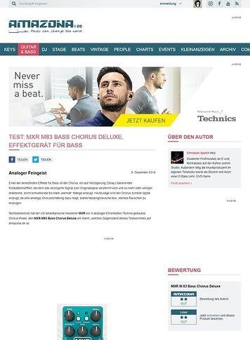 Amazona.de Test: MXR M83 Bass Chorus Deluxe, Effektgerät für Bass