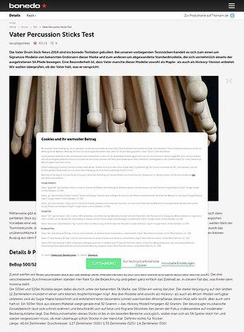Bonedo.de Vater Percussion News 2014