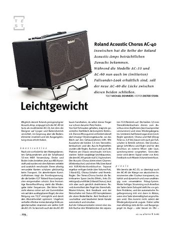 Gitarre & Bass Roland Acoustic Chorus AC-40, Acoustic-Combo