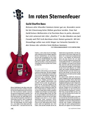 Gitarre & Bass Guild Starfire Bass, E-Bass