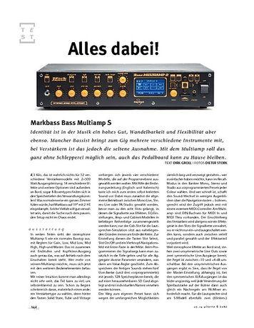 Gitarre & Bass Markbass Bass Multiamp S, Bass-Amp