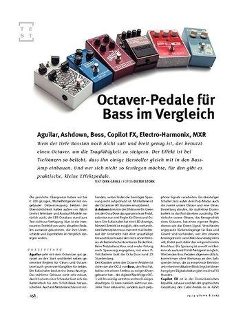 Gitarre & Bass Im Vergleich! Bass-Octaver-Pedale: Octave-Pedale Aguilar, Ashdown, Boss, Copilot FX, Electro-Harmonix, MXR
