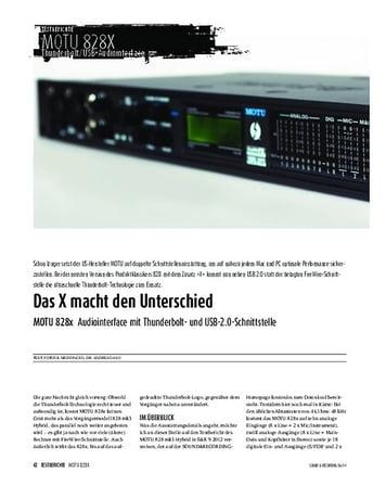 Sound & Recording MOTU 828x - Audiointerface mit Thunderbolt- und USB-2.0-Schnittstelle