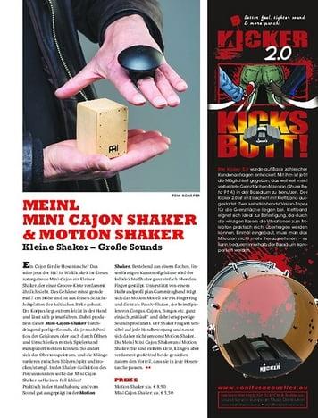 Sticks Meinl Motion Shaker & Mini Cajon Shaker - Kleine Shaker, Große Sounds