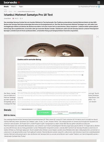 Bonedo.de Istanbul Mehmet Samatya Pro 18