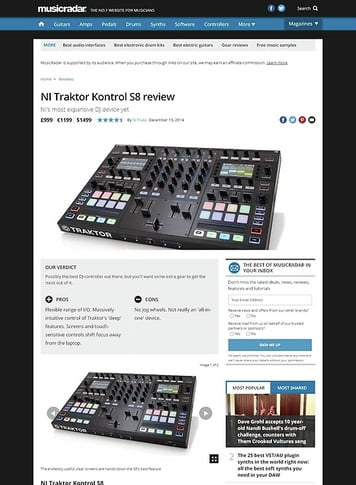 MusicRadar.com NI Traktor Kontrol S8
