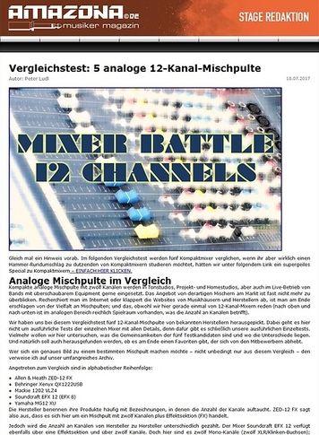 Amazona.de Special: Fünf 12-Kanal-Mischpulte, Vergleichstest