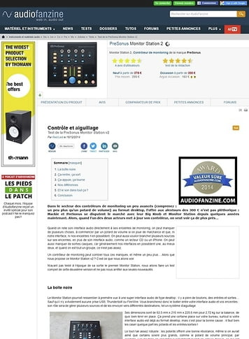 Audiofanzine.com PreSonus Monitor Station 2