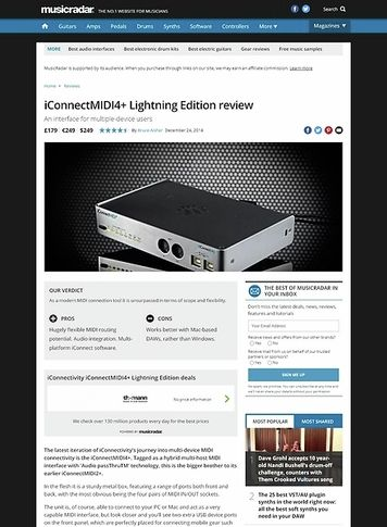 MusicRadar.com iConnectMIDI4+ L