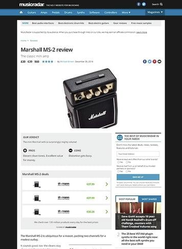 MusicRadar.com Marshall MS-2