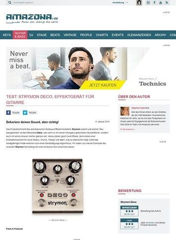 Amazona.de Test: Strymon Deco, Effektgerät für Gitarre