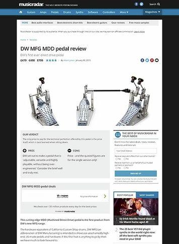 MusicRadar.com DW MFG MDD pedal