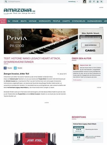 Amazona.de Test: HoTone Nano Legacy Heart Attack, Gitarrenverstärker
