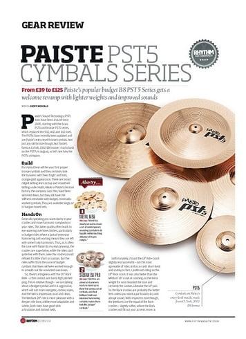 Rhythm Paiste PST5 Cymbal Series