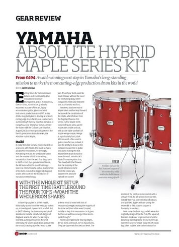 Rhythm Yamaha Absolute Hybrid Maple Series Kit