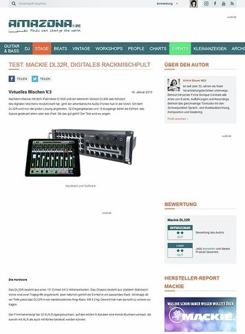 Amazona.de Test: Mackie DL32R, Digitales Rackmischpult