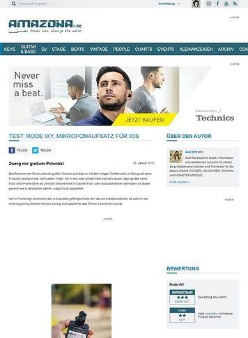 Amazona.de Test: Rode iXY, Mikrofonaufsatz für iOS