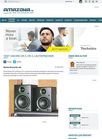 Amazona.de Test: Mackie CR 3, CR 4, Lautsprecher