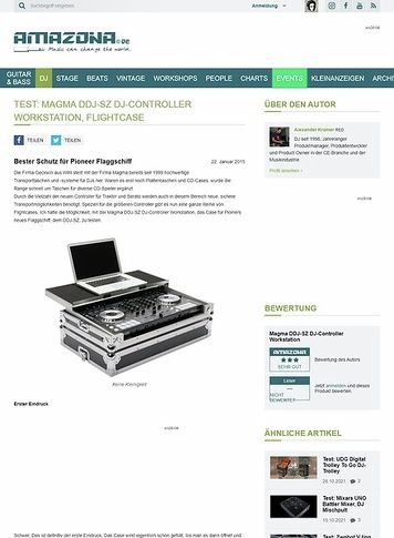 Amazona.de Test: Magma DDJ-SZ DJ-Controller Workstation, Flightcase