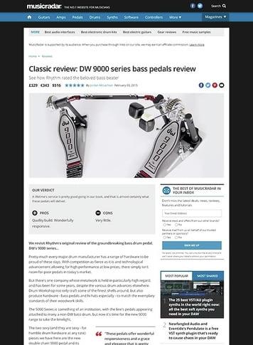 MusicRadar.com DW 9000 pedals