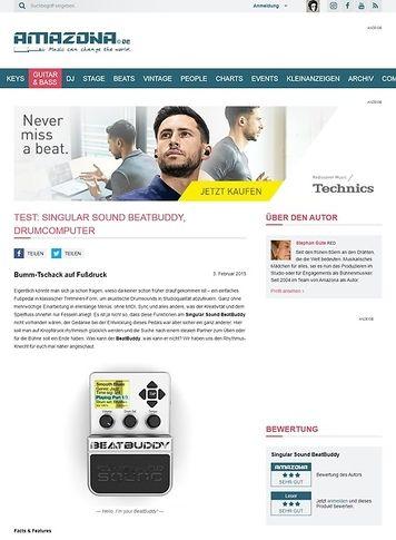 Amazona.de Test: Singular Sound BeatBuddy, Drumcomputer