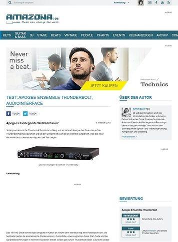 Amazona.de Test: Apogee Ensemble Thunderbolt, Audiointerface