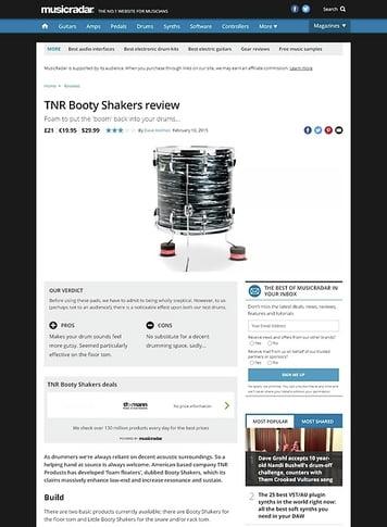 MusicRadar.com TNR Booty Shakers