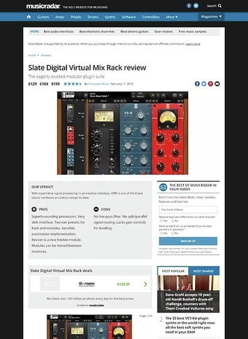 MusicRadar.com Slate Digital Virtual Mix Rack
