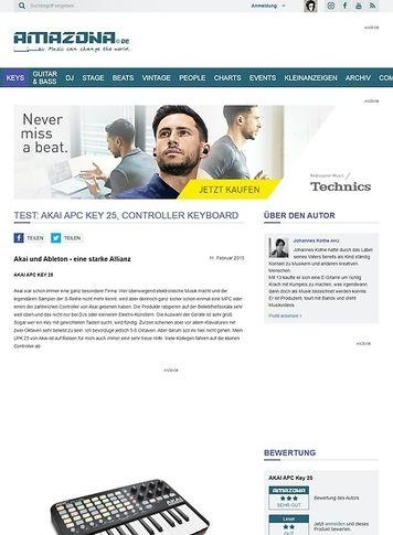Amazona.de Test: Akai APC Key 25, Controller Keyboard