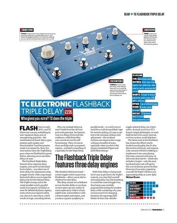 Total Guitar TC Electronic Flashback Triple Delay