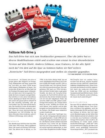 Gitarre & Bass Fulltone Full-Drive 3, Overdrive-Pedal