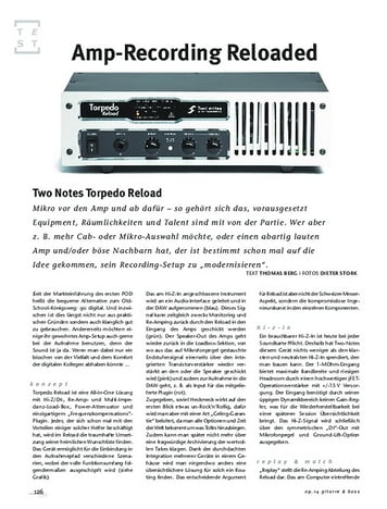 Gitarre & Bass Two Notes Torpedo Reload, Recording-Tool