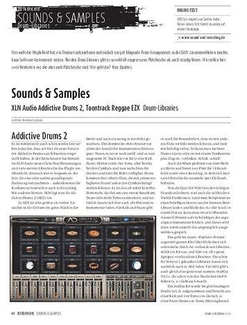 Sound & Recording XLN Audio Addictive Drums 2, Toontrack Reggae EZX - Drum-Libraries